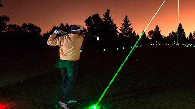 Golfbolde med led lys